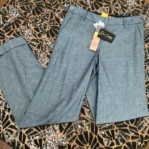 NWT! Tory Burch Wide Leg Cuff Jeans Pants
